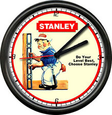 Stanley Tools Dealer Hardware Store Sign Wall Clock