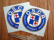 OSCA Maserati Brothers 50mm Racing Car Stickers