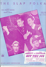"HIT THE ICE Sheet Music ""The Slap Polka"" Abbott & Costello Ginny Simms"