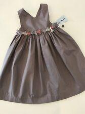 NWT New 4A 4 Yr Tartine Et Chocolat Bow Dress Sundress Petit Paradis Praline