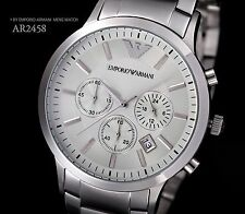 100% Authentic Brand New EMPORIO ARMANI Wristwatch Chronograph LUX Metal AR2458