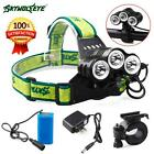 Rehargeable 12000 Lm 3 x CREE T6 LED Bicycle Head Light 18650 Headlamp Torch Lot