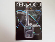 KENWOOD TH-F7E (BROCHURE ORIGINALE solo)............ radio_trader_ireland.