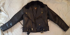 Ladies Size 14 Vanson Black Leather Motorcycle Jacket *Made in Boston Mass USA*