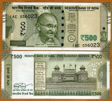 India, 500 Rupees, 2016, P-New, UNC   Gandhi, Redesigned
