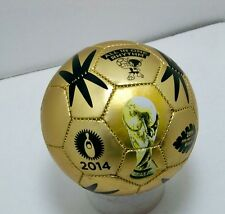 FIFA 2014 Brazil world cup gold MINI soccer ball size 2 sz international Fuleco