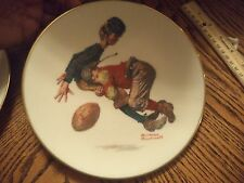 Vintage Gorham Porcelain plate Norman Rockwell Saturday's Heroes NO BOX