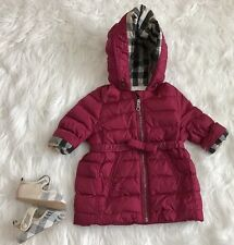 Burberry Infant Baby Girl Nova Check Classic Check Pink Jacket Size 6 Months