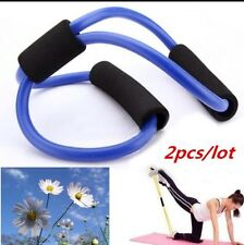 2 X Fitness Equipment Elastic Resistance Bands Tube  Workout  Exercise Band
