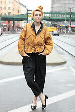 Globe Trotter Donna Giacca Jacket Orange Women 90´s True Vintage Autunno 90er