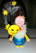 Steinbach Christmas Ornament Made In Germany Sleepytime Moon Lollipop Stars