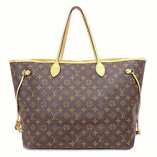 Authentic LOUIS VUITTON Neverfull GM Monogram Brown shopping tote bag France