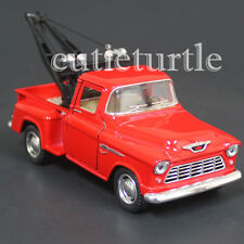 Kinsmart 1955 Chevy Stepside 3100 Pick Up Tow Truck 1:32 Diecast Toy Car Red