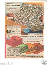 Publicité 1964 - Couvre lit et couvertures  - Manufrance