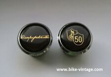 Tulio Campagnolo 50th Anniversary Handlebar Plugs Bar End Caps NOS new gold rare