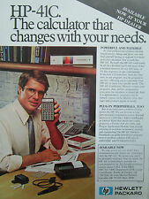 10/1980 PUB HP HEWLETT PACKARD HP CALCULATOR HP-41C CALCULATRICE ORIGINAL AD