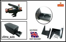 Leather Armrest for Mazda 2 3 Mini Fiat Panda 500 Black w cup holders
