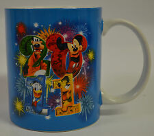 2011 Disney Jerry Leigh Large Blue Coffee Tea Mug Raised Characters and Numbers
