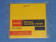 Kodak Wratten Gelatin Filter. 75 x 75 mm. No. 81D