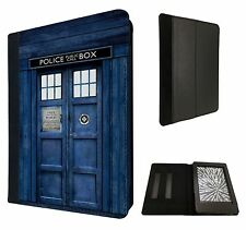 Doctor Who Tardis Police Call Box Custodia Flip Cover per Kindle Paperwhite 6""