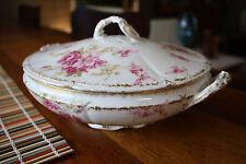 Antique Haviland GDA LIMOGES FRANCE Flowers Covered Vegetable Casserole Dish
