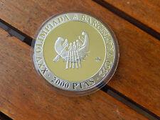 2000 Pesetas  1990 Spanien Barcelona 1992 Silber PP Antikes Schiff