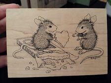 House Mouse CHOCOLATE HEART Stampa Rosa Rubber Stamp LOVE Valentine Candy Bar