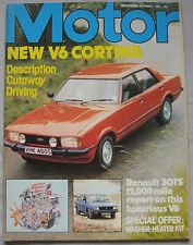 Motor magazine 1/10/1977 featuring Ford Cortina road test, Renault