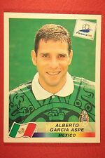 PANINI WC WM FRANCE 98 1998 N. 362 MEXICO GARCIA ASPE WITH BLUE BACK MINT!!