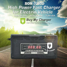 Automatic 72v 6A 20ah~165ah electric cars Battery Charger w/ LCD Display