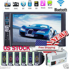 "Double 2 Din 7"" Touchscreen In Dash Bluetooth Stereo Car MP3 Radio Player AUX"