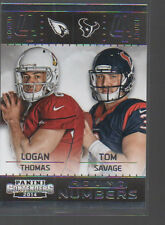 LOGAN THOMAS/TOM SAVAGE  2014 PANINI CONTENDERS ROUND NUMBERS ROOKIE CARD #10