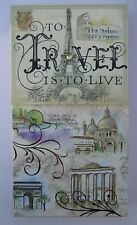 To Travel is to Live LARGE PURSE POCKET NOTE PAD Punch Studios