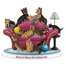 Home Is Where My Yorkie s Are Dog Figurine  - Bradford Exchange
