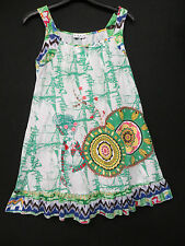 GREEN LONG LENGTH PATCHWORK & BUTTON DESIGN TOP SIZE 16 BY SOLO ITALY