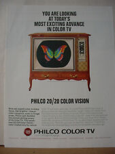 1965 Philco Color Television TV Model 5434-CH Butterfly Vintage Print Ad 10278
