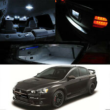 For 2007-Up Lancer Evo X 10 Interior White Xenon LED Light Bulb Full Package Kit