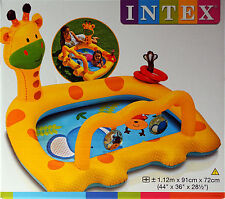 Intex Giraffe Inflatable Activity Baby Paddling Pool Age 1- 3 Years
