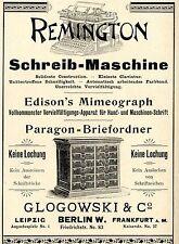 Glogowski & Co. Berlin remington écriture machine historique la publicité de 1896