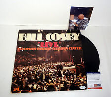 BILL COSBY THE SHOW SIGNED LIVE AT MSG VINYL RECORD ALBUM PROOF PSA/DNA COA