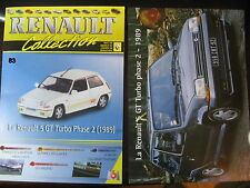 FASCICULE 83 RENAULT COLLECTION R5 GT TURBO PHASE 2    1989 AVEC INSERT