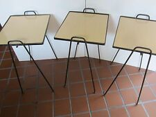 Mid Century Atomic Hair Pin  iron Formica top Nesting Stackable tables set 3 vtg