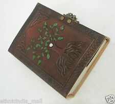Celtic Tree of Life Leather Journal Diary Handmade Paper Blank Book of Shadows