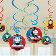 Thomas the Tank Engine Party - 12 Hanging Swirl Decorations - Free Post Uk