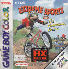 NINTENDO GAME BOY COLOR GBC EXTREME SPORTS WITH THE BERESTAIN BEARS BUONE CONDI.