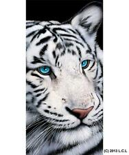 "White Tiger Beach Pool Bath Towel 30"" x 60"" Summer Party Gift Wild Cat Animal"