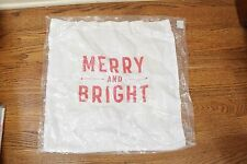 """NWT West Elm Merry & Bright pillow cover 18"""" Christmas"""