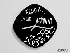 Whatever I'm Late Anyway / Oval Black - Wall Clock