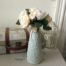 Shabby Chic Decorative Vase with Vintage Style Roses ~ Unique Gift (78)