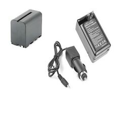 Battery + Charger for Sony NP-F960 NP-F970 NPF970 NPF960